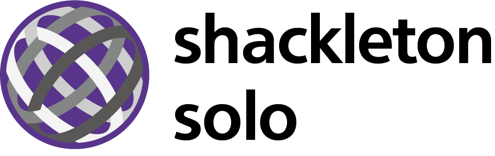 Logo Shackleton lettras negras